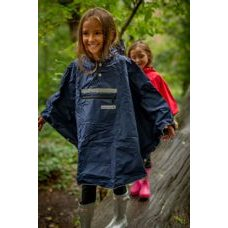 The People's KIDS Hardy Navy Poncho Medium
