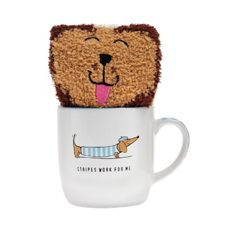 Mug and Sock Sausage Dog