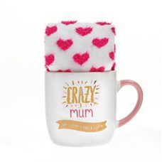 Mug and Sock Crazy Mum