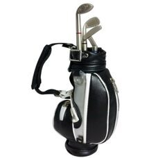Executive Desktop Golfbag Pen Holder
